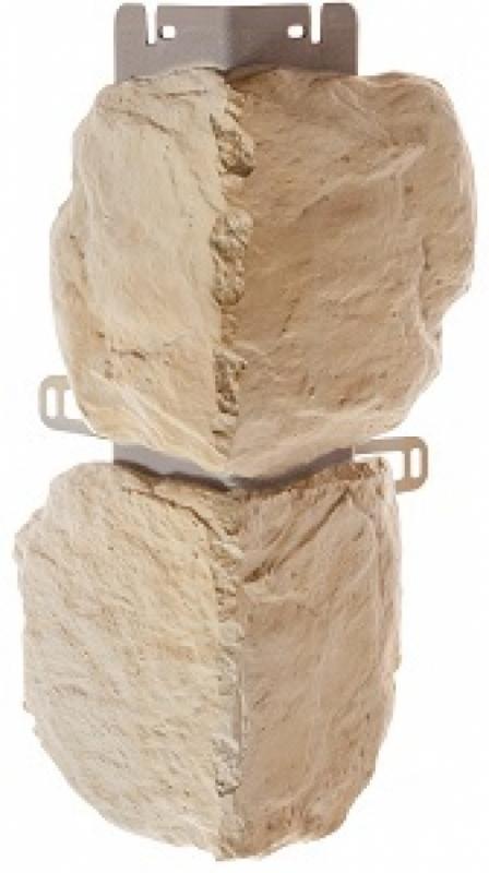 Наружный угол бутовый камень (Балтийский) 440 х 180 мм