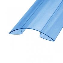 Коньковый профиль Berolux 6-8x6000мм синий