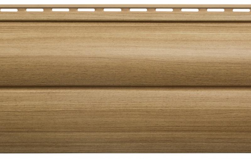 Виниловый сайдинг Блок хаус Люкс (Каштан) BH-03 размер 3000 х 226 мм
