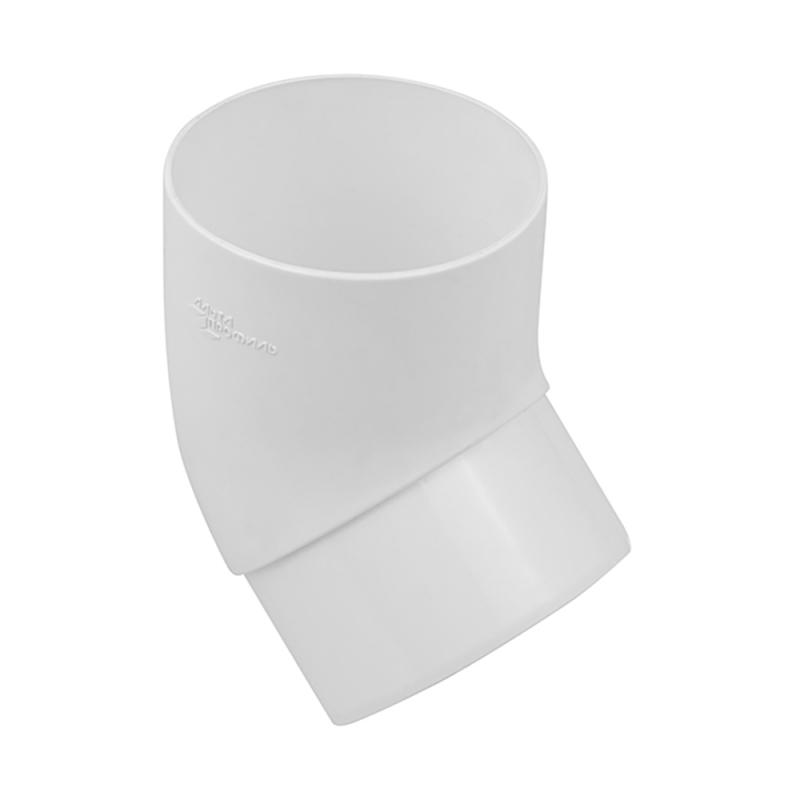 Колено трубы 45 градусов для водосточной системы Стандарт Белый