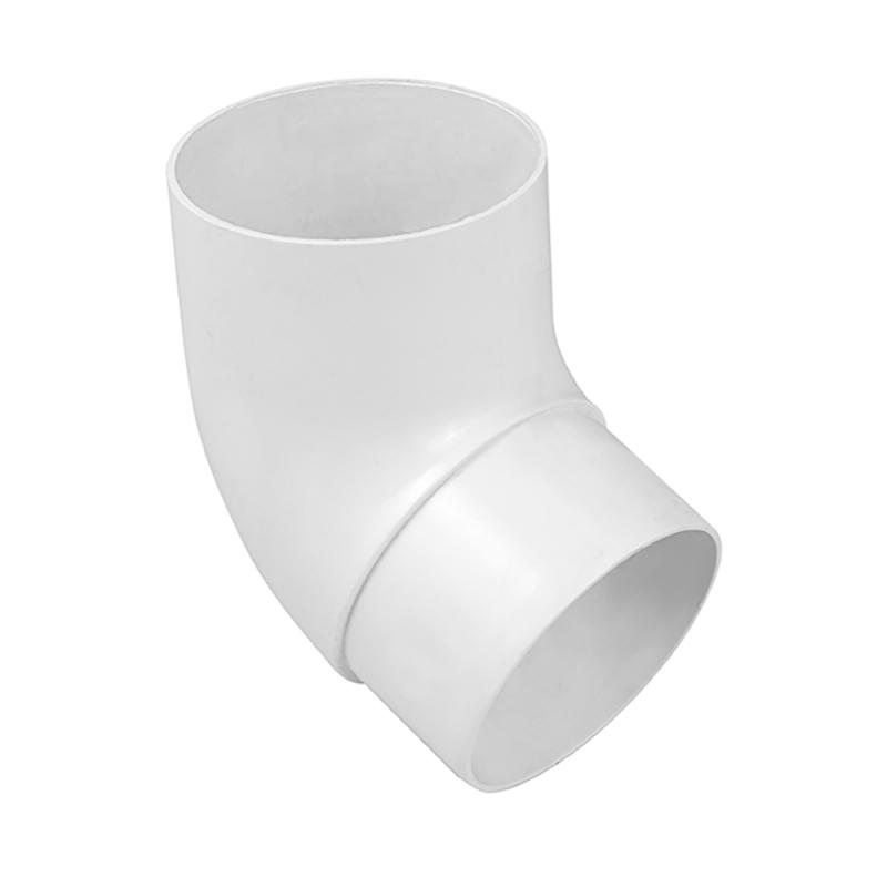 Колено трубы 67 градусов для водосточной системы Стандарт Белый