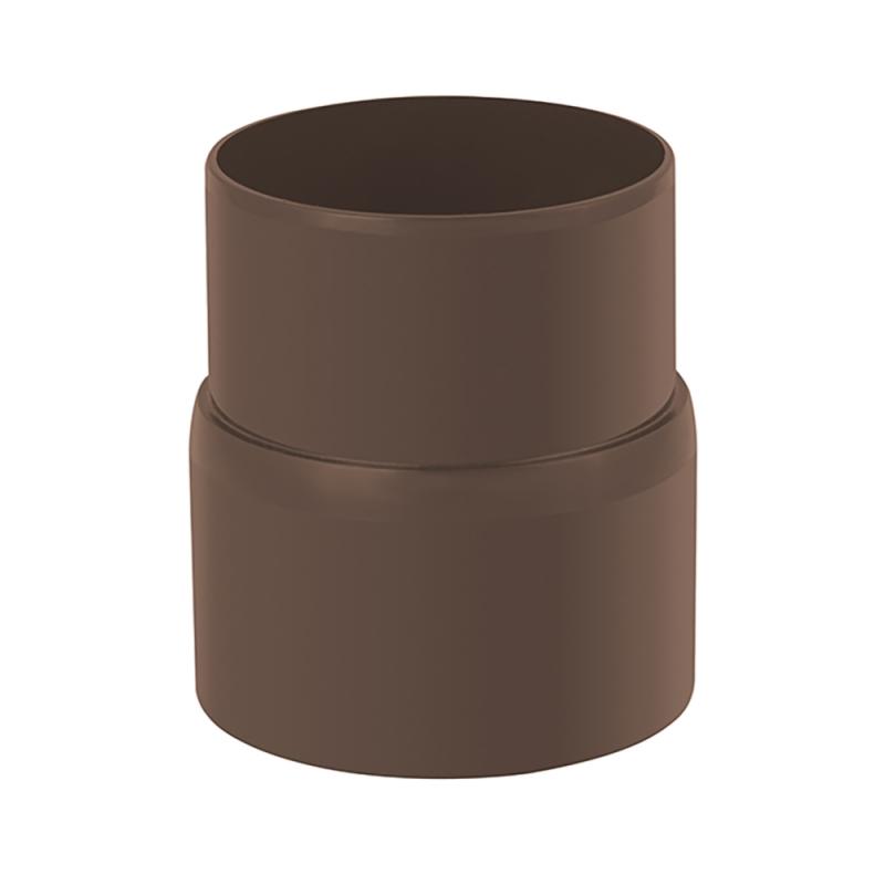 Муфта трубы для водосточной системы Стандарт Коричневый