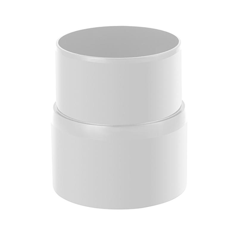 Муфта трубы для водосточной системы Стандарт Белый