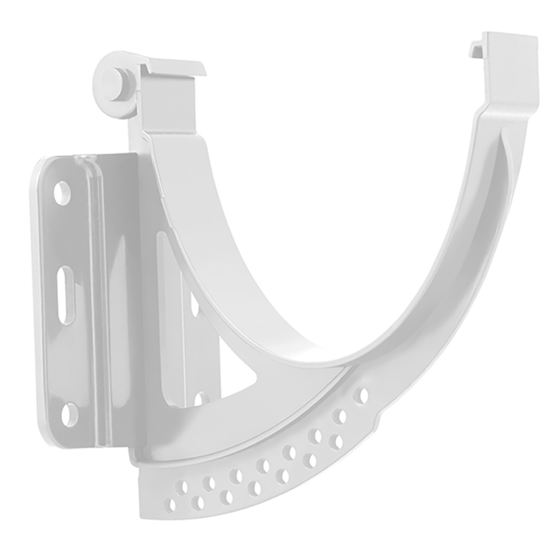Кронштейн желоба пластиковый Стандарт Белый
