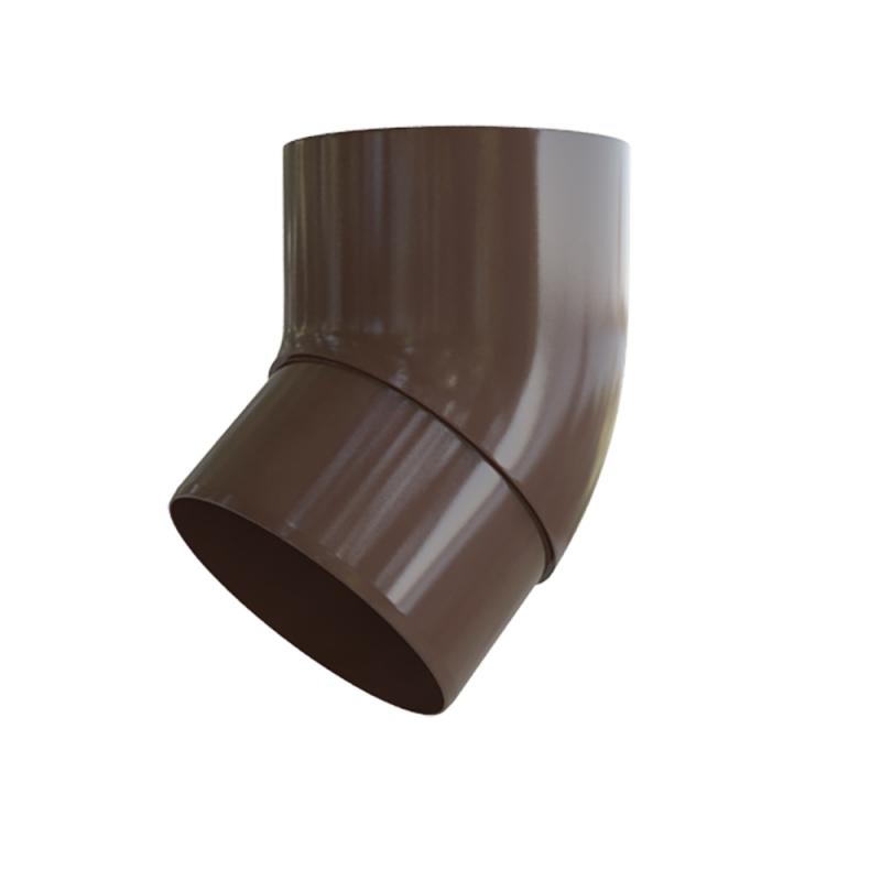 Колено трубы 45 ПВХ Элит (Коричневый)