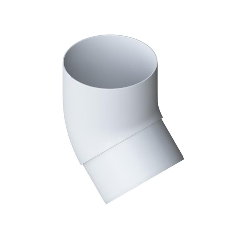 Колено трубы 45 ПВХ Элит (Белый)