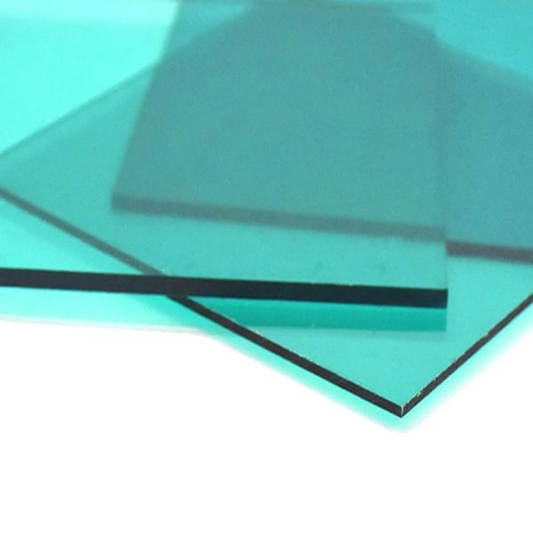 Монолитный поликарбонат Borrex 4 мм бирюзовый 2050x6100