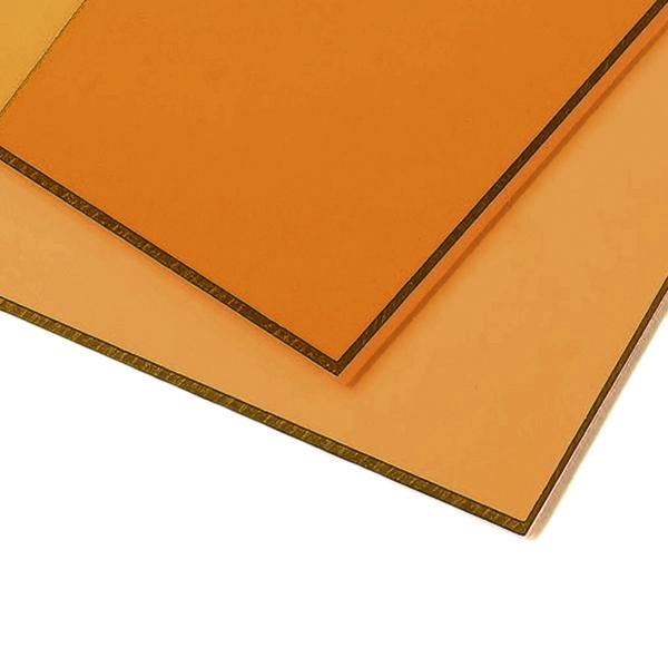 Монолитный поликарбонат Borrex 3 мм бронза-янтарная 2050x6100