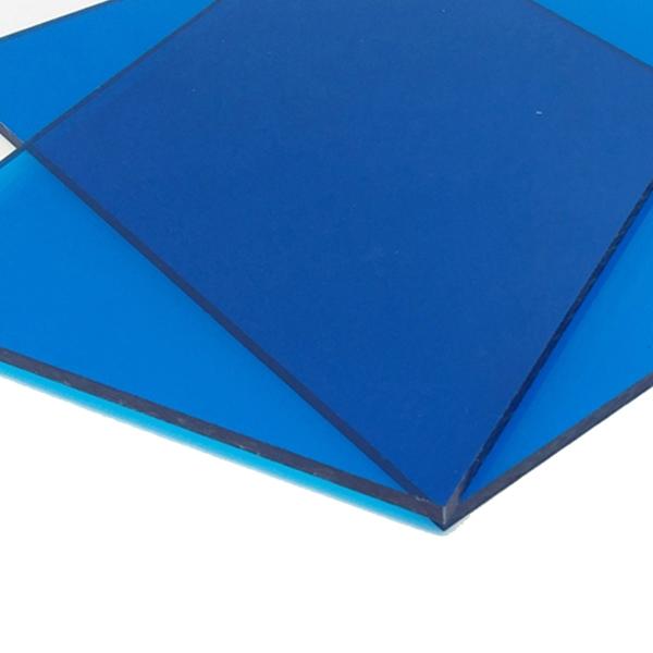 Монолитный поликарбонат Borrex 15 мм синий 2050x3050