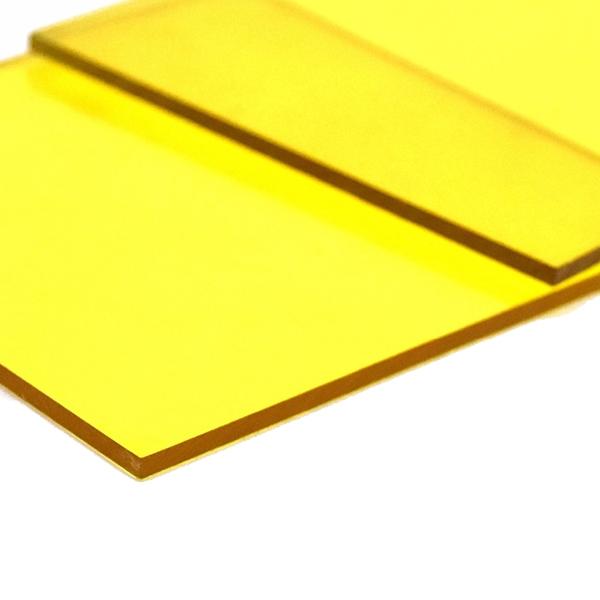 Монолитный поликарбонат Borrex 15 мм желтый 2050x3050