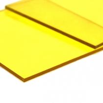 Монолитный поликарбонат Borrex 4 мм желтый 2050x3050