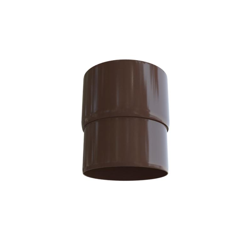 Муфта трубы для водосточной системы Элит (Коричневый)