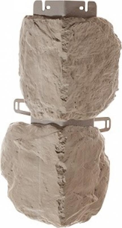 Наружный угол бутовый камень (Нормандский) 440 х 180 мм