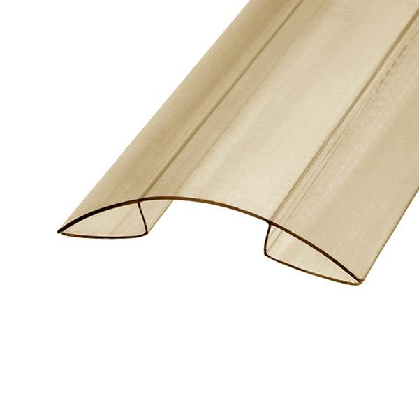 Коньковый профиль Berolux 10x6000мм бронзовый