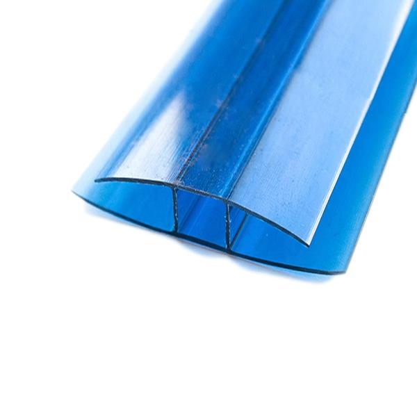 Соединительный неразъемный профиль Berolux 4x6000мм синий