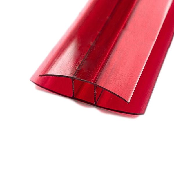 Соединительный неразъемный профиль Berolux 10x6000мм гранат