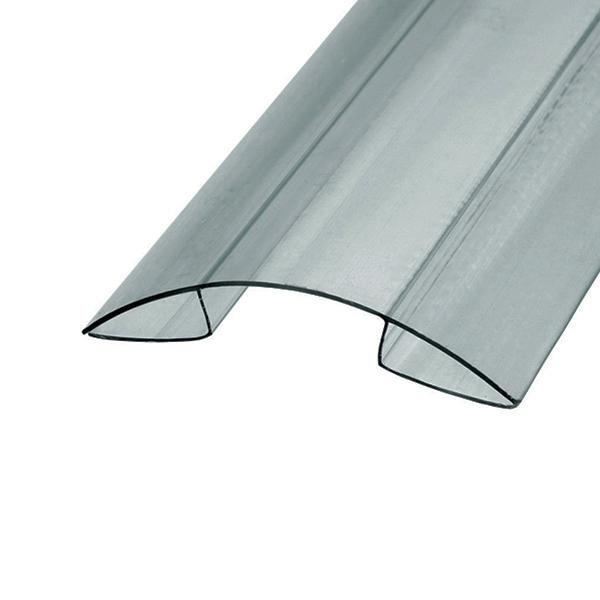 Коньковый профиль Berolux 20x6000мм серый