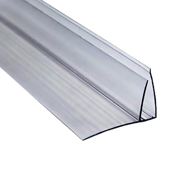 Пристенный профиль Berolux 8-10x6000 мм серый