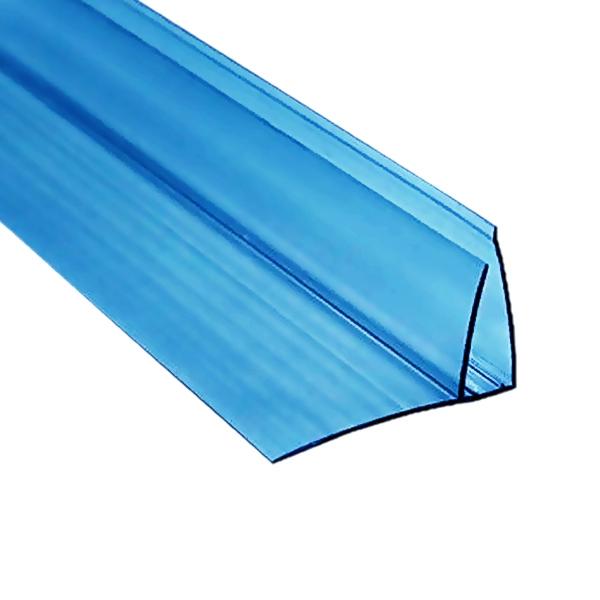Пристенный профиль Berolux 8-10x6000 мм синий