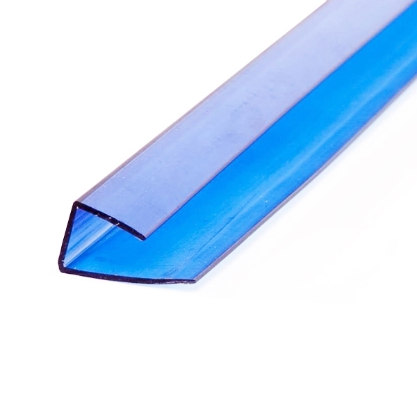 Торцевой профиль Berolux 6x2100 мм синий