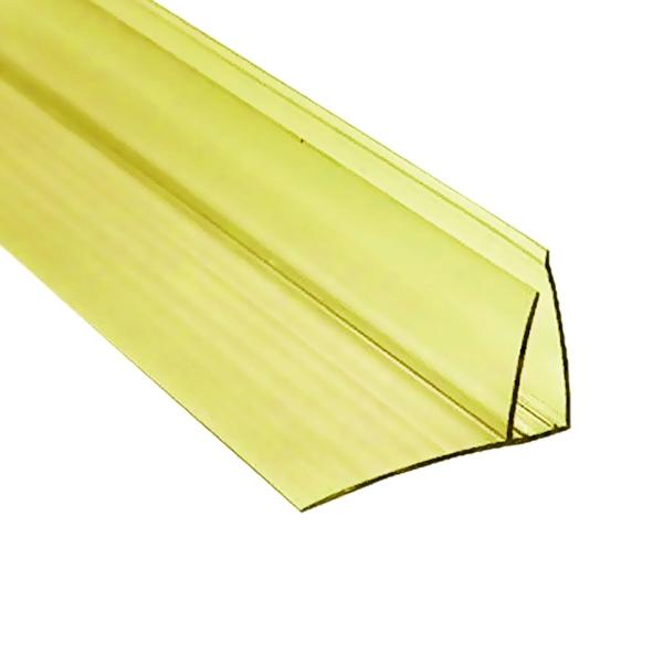 Пристенный профиль Berolux 8-10x6000 мм желтый