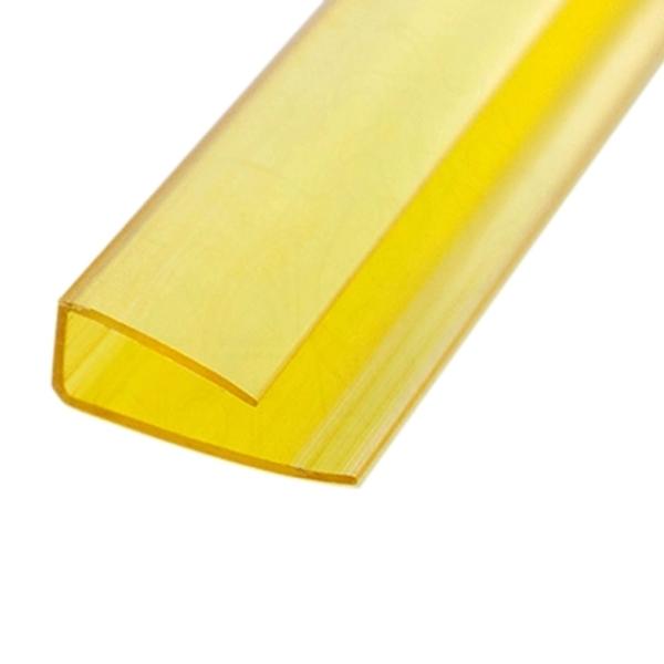 Торцевой профиль Berolux 16x2100 мм желтый