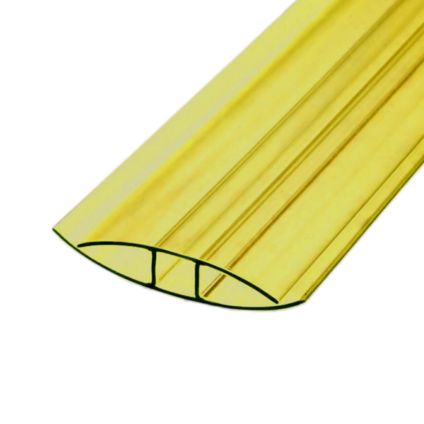 Соединительный неразъемный профиль Berolux 4x6000мм желтый