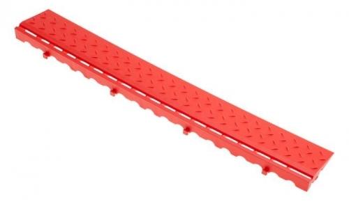 Боковой элемент обрамления с замками Красный