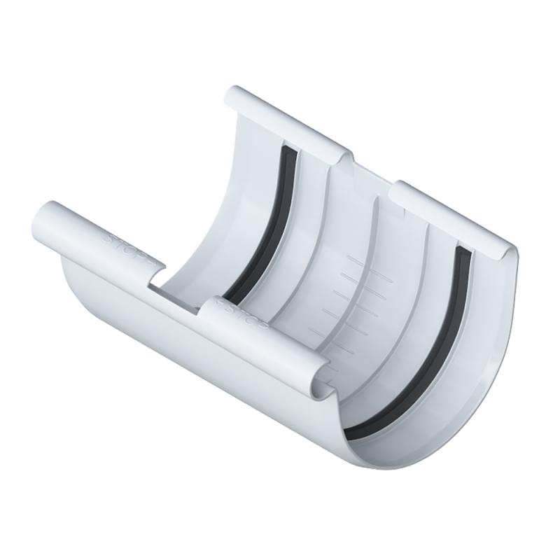 Жёлоб водосточный 4000 мм диаметр 125 мм ПВХ Элит (Белый)