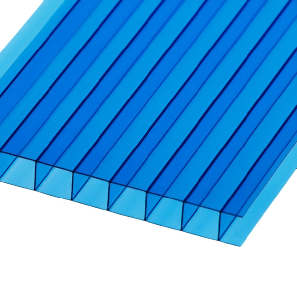Сотовый поликарбонат Berolux 16 мм синий двухкамерный 2100x12000
