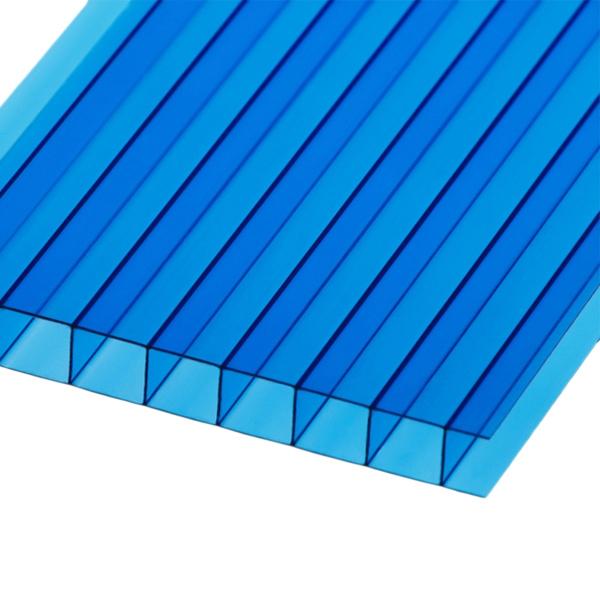 Сотовый поликарбонат Berolux 10 мм синий однокамерный 2100x6000