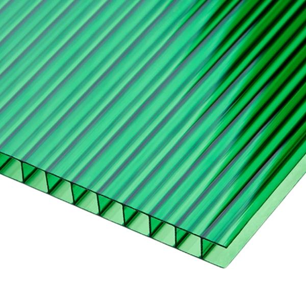 Сотовый поликарбонат Sotalux 10мм зеленый однокамерный 2100x6000