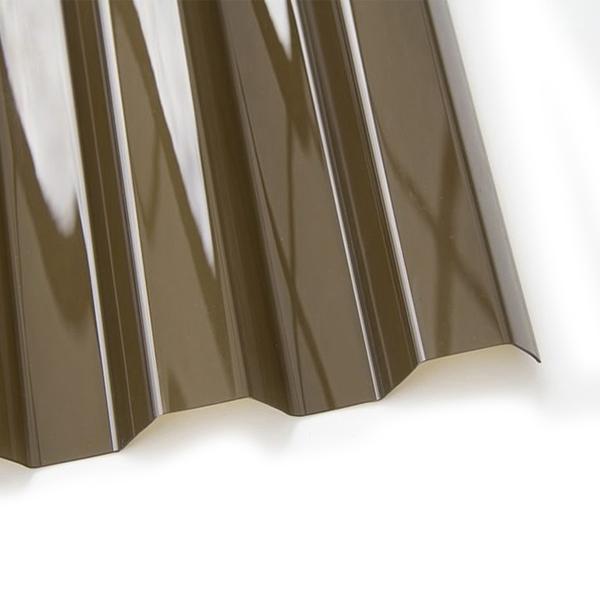 Поликарбонат трапеция Borrex 0,8 мм бронзовый 1150x3000