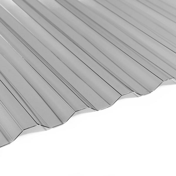 Поликарбонат трапеция Borrex 0,8 мм серый 1150x2000