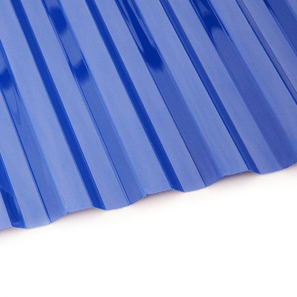 Поликарбонат трапеция Borrex 0,8 мм синий 1150x3000