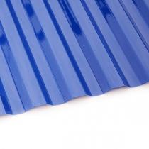 Поликарбонат трапеция Borrex 0,8 мм синий 1150x2000