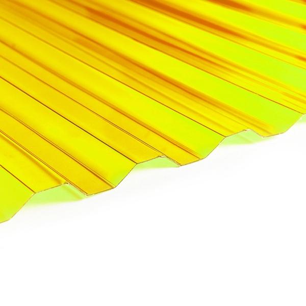 Поликарбонат трапеция Borrex 0,8 мм желтый 1150x2000