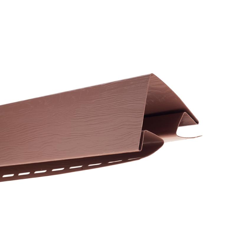"""Планка """"наружный угол"""" Т-12  """"ВН"""" размер 3000 мм Красно-коричневый"""