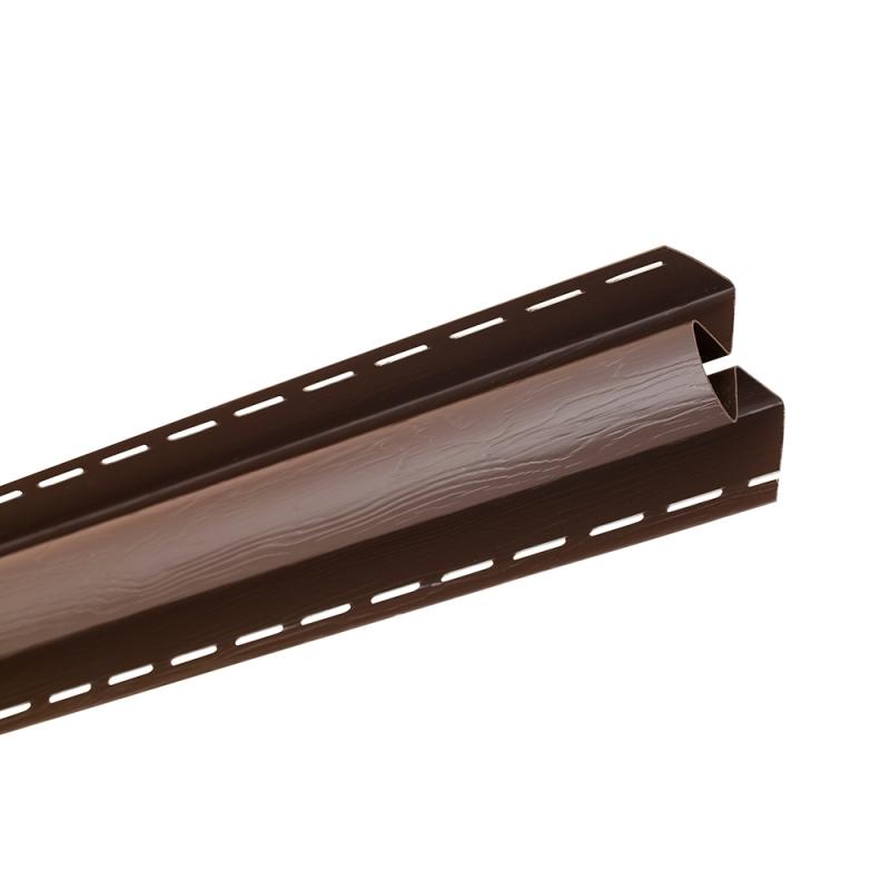 """Планка """"угол внутренний """" Т13 """"BH"""" размер 3000 мм Темный орех"""