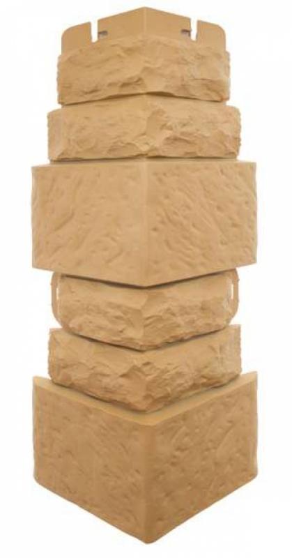 Наружный угол Фасадная плитка (Златолит)